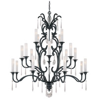 Castellina 20 Light 56 inch Castellina Aged Iron Chandelier Ceiling Light