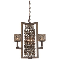 Signature 6 Light 22 inch French Bronze with Jeweled Accents Pendant Ceiling Light