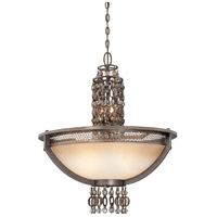 Metropolitan N6723-258 Ajourer 6 Light French Bronze Chandelier Ceiling Light