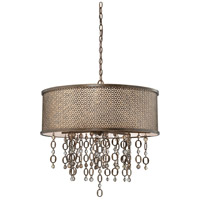 Ajourer 8 Light 28 inch French Bronze Drum Pendant Ceiling Light