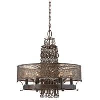 Ajourer 6 Light 24 inch French Bronze Chandelier Ceiling Light