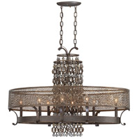 Ajourer 8 Light 19 inch French Bronze Chandelier Ceiling Light, Oval
