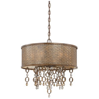 Ajourer 6 Light 20 inch French Bronze Drum Pendant Ceiling Light