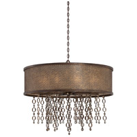 Ajourer 10 Light 36 inch French Bronze Drum Pendant Ceiling Light