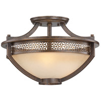 Ajourer 3 Light 20 inch French Bronze Semi-Flush Ceiling Light