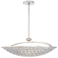 Magique 5 Light 28 inch Polished Nickel Bowl Pendant Ceiling Light