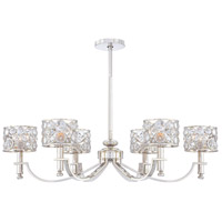 Metropolitan Magique  6 Light Chandelier in Polished Nickel N6755-613
