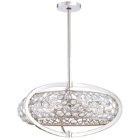 Magique 8 Light 27 inch Polished Nickel Drum Pendant Ceiling Light