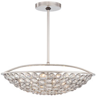 Magique 5 Light 21 inch Polished Nickel Bowl Pendant Ceiling Light