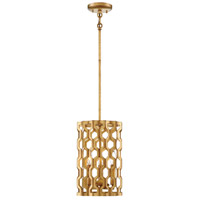 Coronade 3 Light 9 inch Pandora Gold Leaf Mini Pendant Ceiling Light