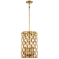 Coronade 4 Light 12 inch Pandora Gold Leaf Pendant Ceiling Light