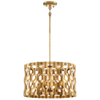 Coronade 4 Light 18 inch Pandora Gold Leaf Pendant Ceiling Light