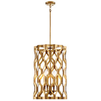 Coronade 4 Light 17 inch Pandora Gold Leaf Pendant Ceiling Light