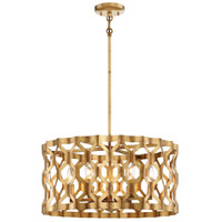 Coronade 5 Light 22 inch Pandora Gold Leaf Pendant Ceiling Light