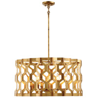 Coronade 6 Light 26 inch Pandora Gold Leaf Pendant Ceiling Light, Convertible to Semi-Flush
