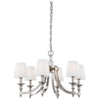 Metropolitan N6802-613 Continental Classics 6 Light 30 inch Polished Nickel Chandelier Ceiling Light