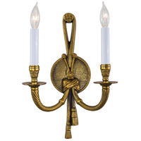Signature 2 Light 10 inch Antique Gold ADA Wall Sconce Wall Light
