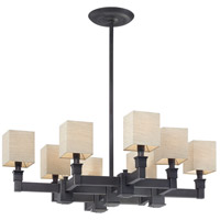 Metropolitan Signature 8 Light Chandelier in Black Bronze N6820-591