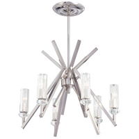 Metropolitan Fusano  6 Light Chandelier in Polished Nickel N6830-613