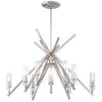 Metropolitan Fusano  12 Light Chandelier in Polished Nickel N6831-613