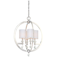 Metropolitan Chadbourne  4 Light Pendant in Polished Nickel N6840-613