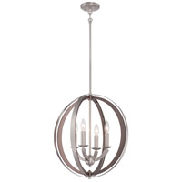 Ironsights 4 Light 19 inch Brushed Nickel Pendant Ceiling Light