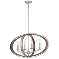 Ironsights 4 Light 17 inch Brushed Nickel Chandelier Ceiling Light