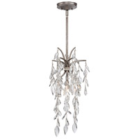 Metropolitan Bella Flora 1 Light Mini Pendant in Silver Mist N6861-278