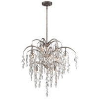 Bella Flora 12 Light 29 inch Silver Mist Pendant Ceiling Light