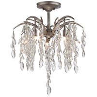 Bella Flora 5 Light 21 inch Silver Mist Semi Flush Mount Ceiling Light