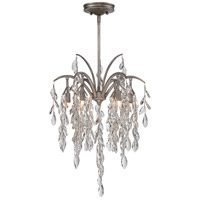 Bella Flora 6 Light 17 inch Silver Mist Pendant Ceiling Light