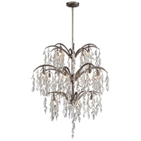 Bella Flora 16 Light 38 inch Silver Mist Chandelier Ceiling Light