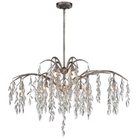 Bella Flora 12 Light 47 inch Silver Mist Island Light Ceiling Light