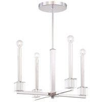 Metropolitan Chadbourne  4 Light Pendant in Polished Nickel N6870-613