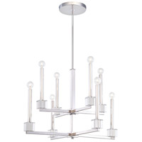 Metropolitan Chadbourne  8 Light Chandelier in Polished Nickel N6871-613