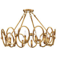 Clairpointe 12 Light 30 inch Pandora Gold Leaf Semi-Flush Mount Ceiling Light