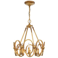 Clairpointe 8 Light 21 inch Pandora Gold Leaf Pendant Ceiling Light