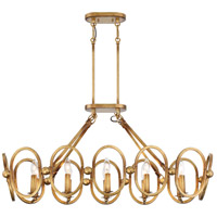 Clairpointe 10 Light 38 inch Pandora Gold Leaf Island Light Ceiling Light