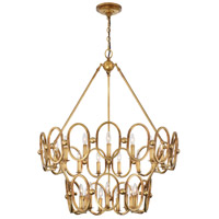 Clairpointe 24 Light 38 inch Pandora Gold Leaf Chandelier Ceiling Light