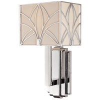 Metropolitan Walt Disney Signature Storyboard 1 Light Sconce in Chrome and Macassar Ebony N6921-77