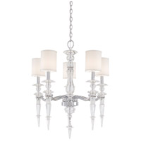 Metropolitan Walt Disney Signature Kingswell 5 Light Chandelier in Chrome Eidolon Krystal Glass N6928-77