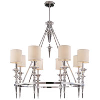 Metropolitan Walt Disney Signature Kingswell 8 Light Chandelier in Chrome w/Crystal Accents N6938-77
