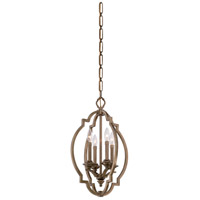 Metropolitan Leichester 4 Light Foyer Pendant in Aged Brass N6943-575