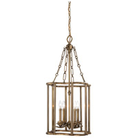 Metropolitan N6944-575 Leicester 4 Light 18 inch Aged Brass Pendant Ceiling Light
