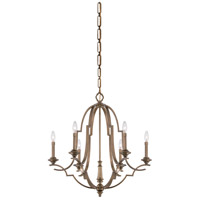 Leichester 6 Light 29 inch Aged Brass Chandelier Ceiling Light