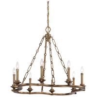 Metropolitan Leicester 8 Light Chandelier in Aged Brass N6948-575