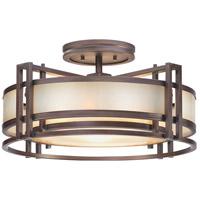 Metropolitan N6964-1-267B Underscore 3 Light 22 inch Cimmaron Bronze Semi-Flush Mount Ceiling Light