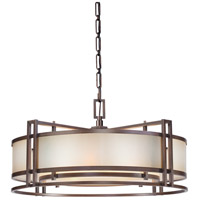 Metropolitan N6965-1-267B Underscore 4 Light 30 inch Cimmaron Bronze Drum Pendant Ceiling Light