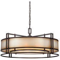 Metropolitan Walt Disney Signature Underscore 6 Light Pendant in Cimarron Bronze N6968-267B