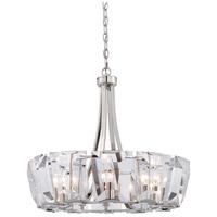 Metropolitan N6982-613 Castle Aurora 12 Light 26 inch Polished Nickel Chandelier Ceiling Light